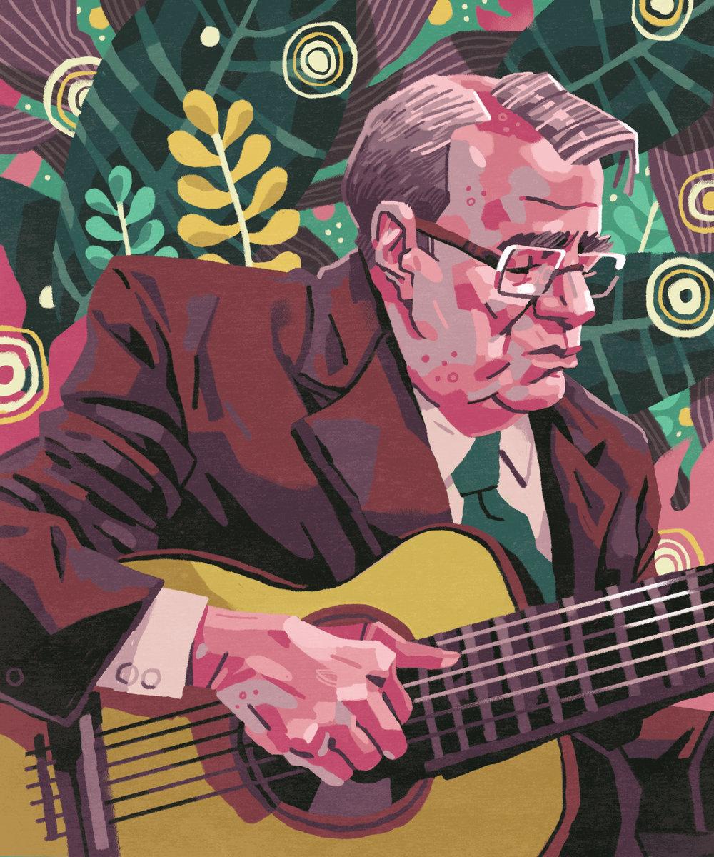 Joao Gilberto Self-directed Illustration