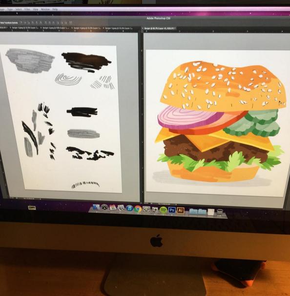burger process shot