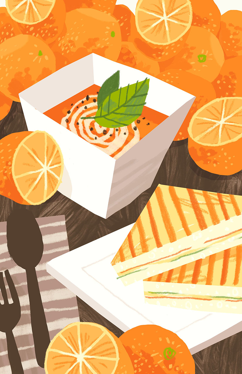 Tomato Orange Soup Self-directed illustration