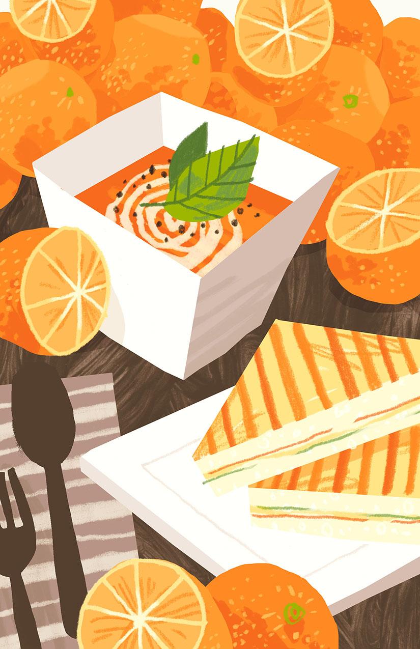 Tomato Orange Soup Self-directed illustration
