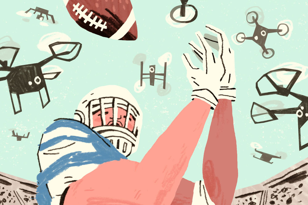Sports & Drones Self-directed illustration
