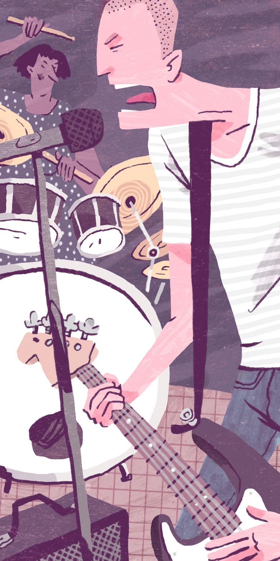 Garage Band - Self-directed illustration