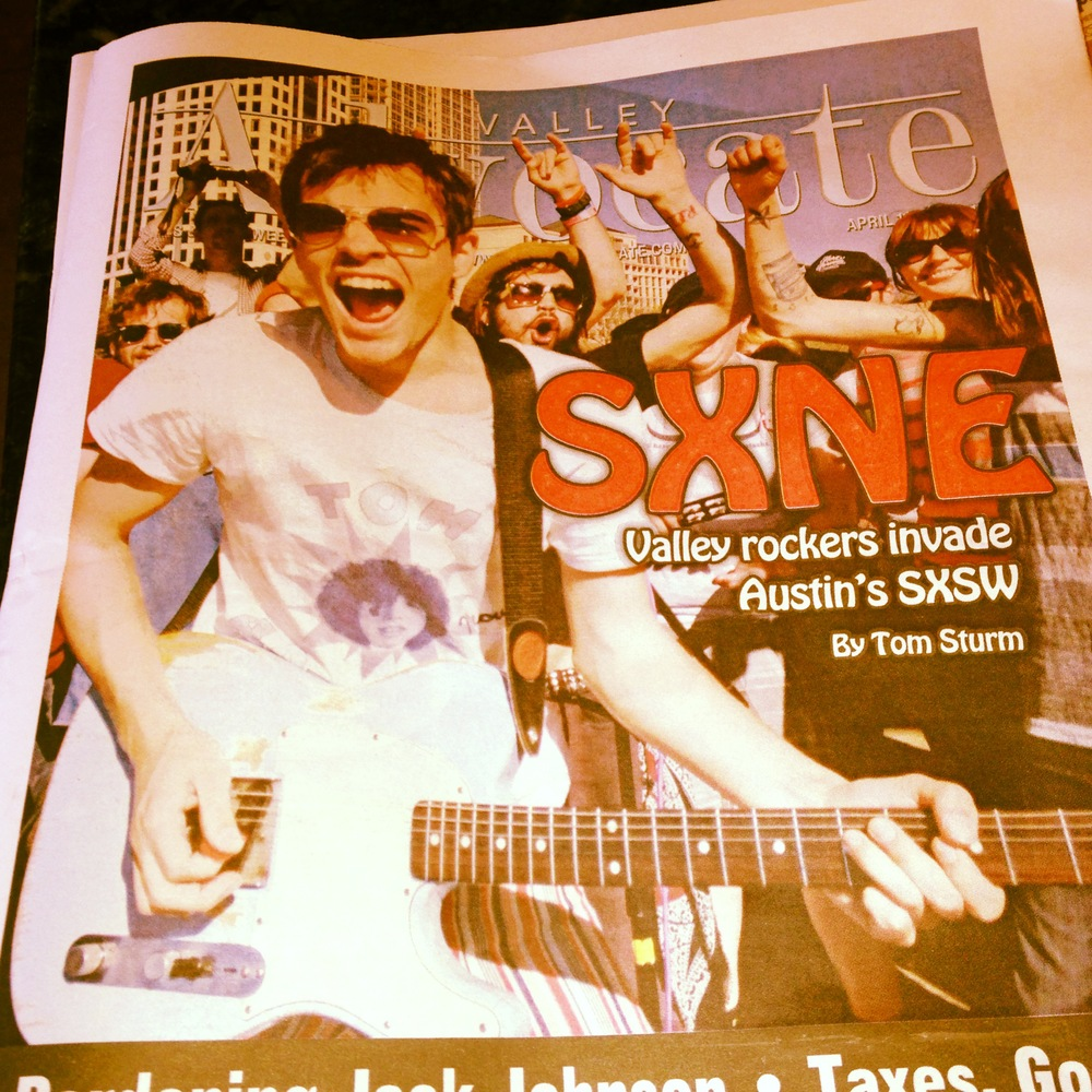 LuxDeluxe on Cover of The Valley Advocate From SXSW
