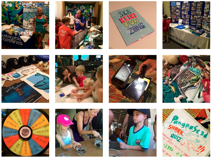 Keiki learning about oceans and being inspired at World Oceans Day 2014's Sea Keiki Fun Zone!