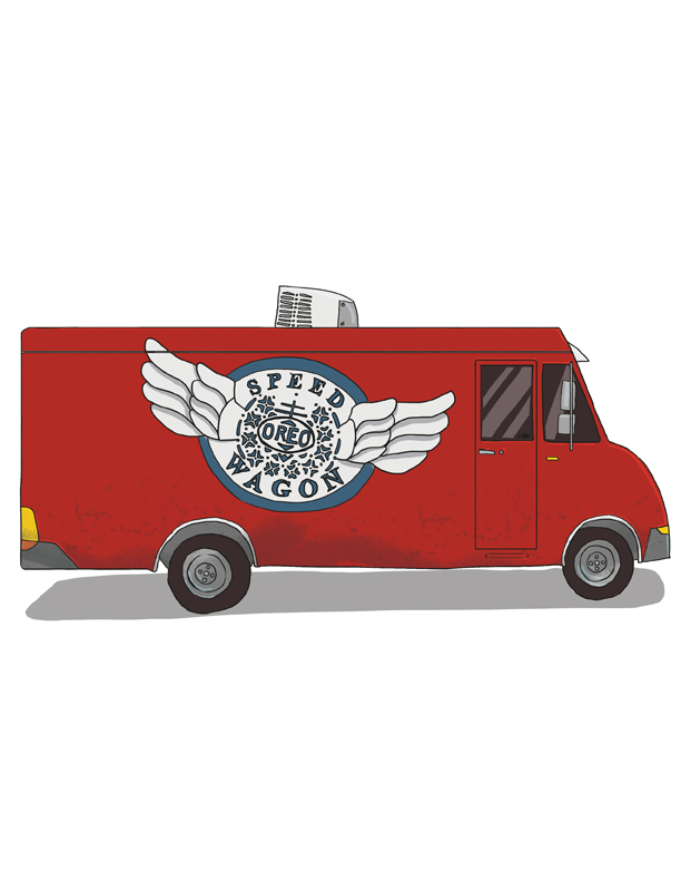 Food truck series for 614 Media Group based on bands' puns given by the readers.