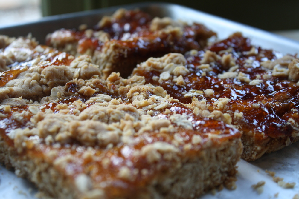 Strawberry & Apricot Jam Bars