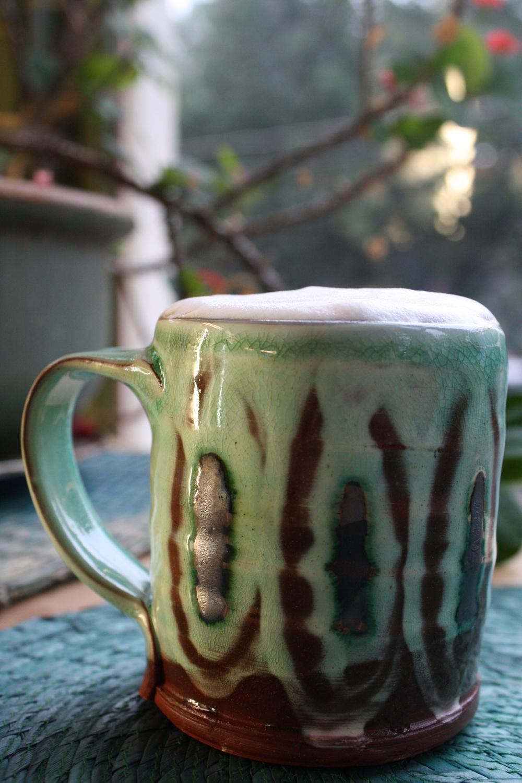 Latte in a Maria Dondero Mug