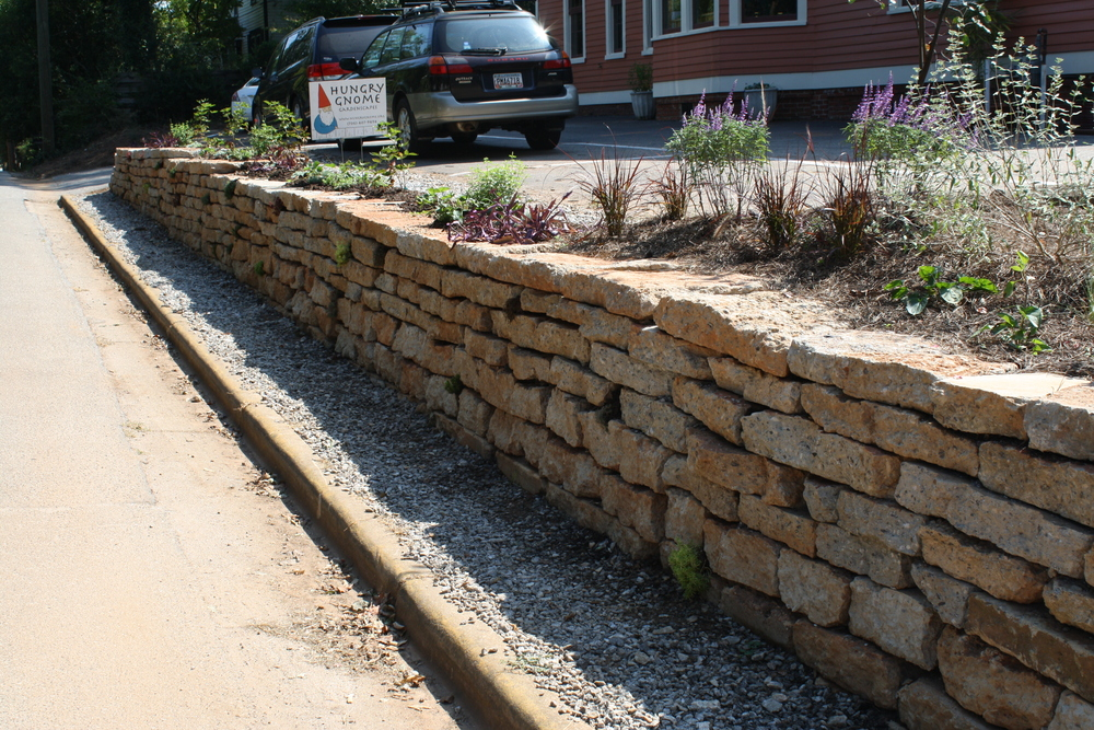 Retaining wall by Hungry Gnome