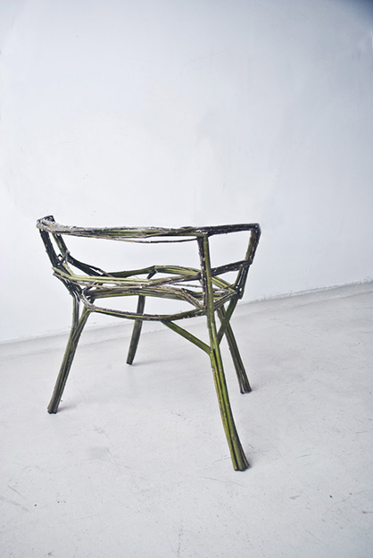 The finished chair in all its glory. Those without a green thumb be warned – yours might not look like this.