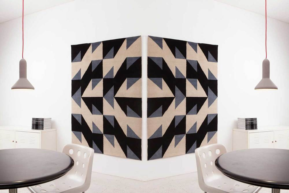 The Made by Node rug was designed by Patternity in 2013 and launched at Design Junction during LDF.