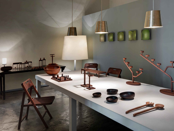 The  Woodwork collection on show at the Paola C showrooms in VIa Solferino MIlan April 2012.