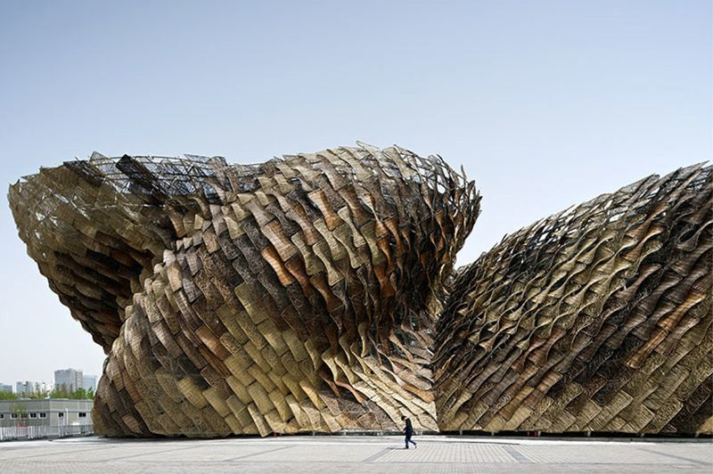 The Spanish Pavilion for the Shanghai Expo in 2010 by Tagliabue's Barcelona based architecture firm, EMTB.
