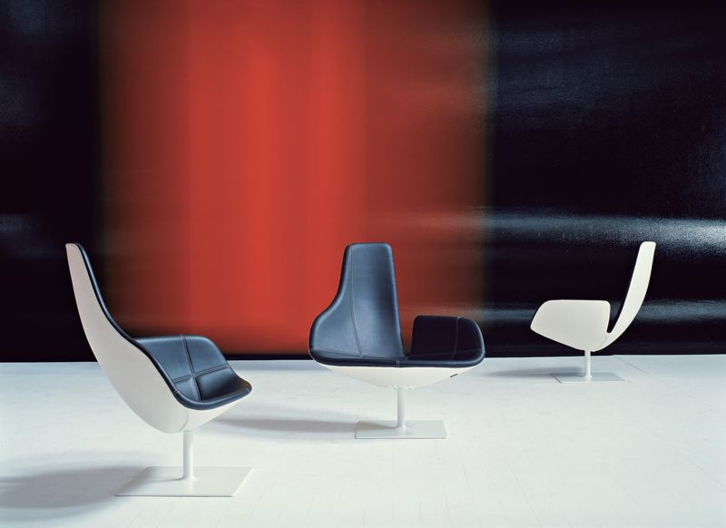 The asymetrical 'Fjord' chairs for Moroso were launched in 2002 and took the world by storm.