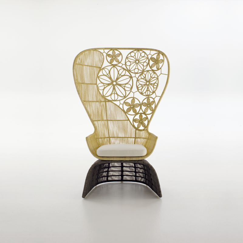The 'Crinoline' chair for B&B Italia looks like it might be an outdoor chair but is actually for interior use only.