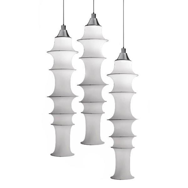 A group of 'Falkland lights' from 1964. The pendant is still produced by Danese Milano.