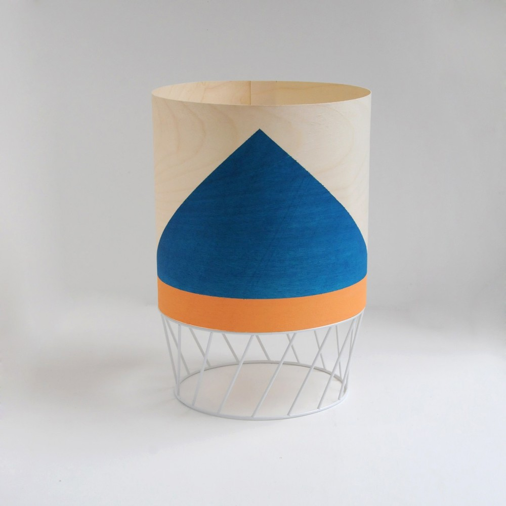 'Dowood' lamp in blue and coral