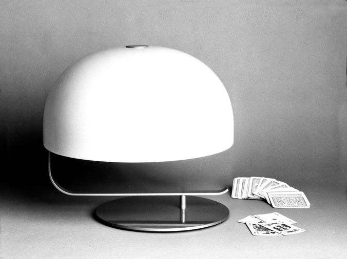 Marco Zanuso's '275' table lamp, reissued by Oluce.
