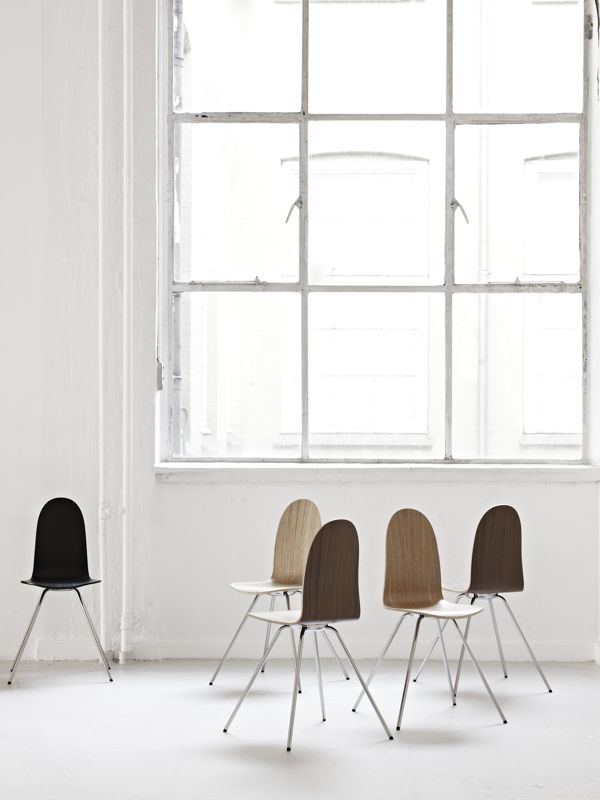 The 'Tongue' chair designed by Arne Jacobsen 1955. Reissued by Howe.