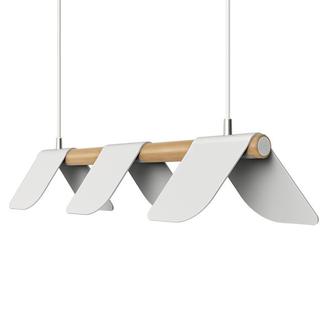 Andy Grigor's 'Glide' pendant in it's long version. The light will also be available as a single suspension.