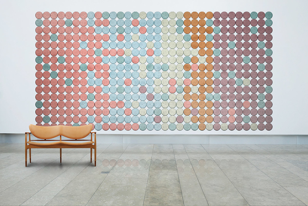 New company Baux released their Träullit wood wool acoustic panels designed by Form us with Love. The panels come in six shapes and in 20 sophisticated colours allowing for an amazing array of patterns and colour combinations.