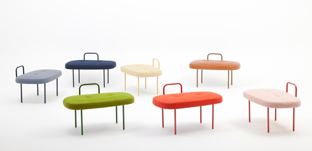 The range of colours available determine the personality of the stool - fun and young or restrained and grown up.