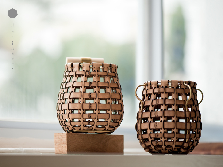 'Leather in Basketry' is an exquisite exploration of using leather in ways normally reserved for rattan.