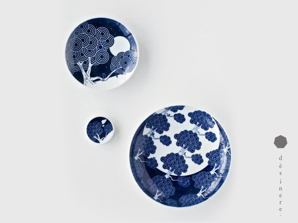 Ong's 'Tembusu'  ceramic pieces - produced by Japanese ceramic specialist Kihara in collaboration with Singapore brand Supermama.