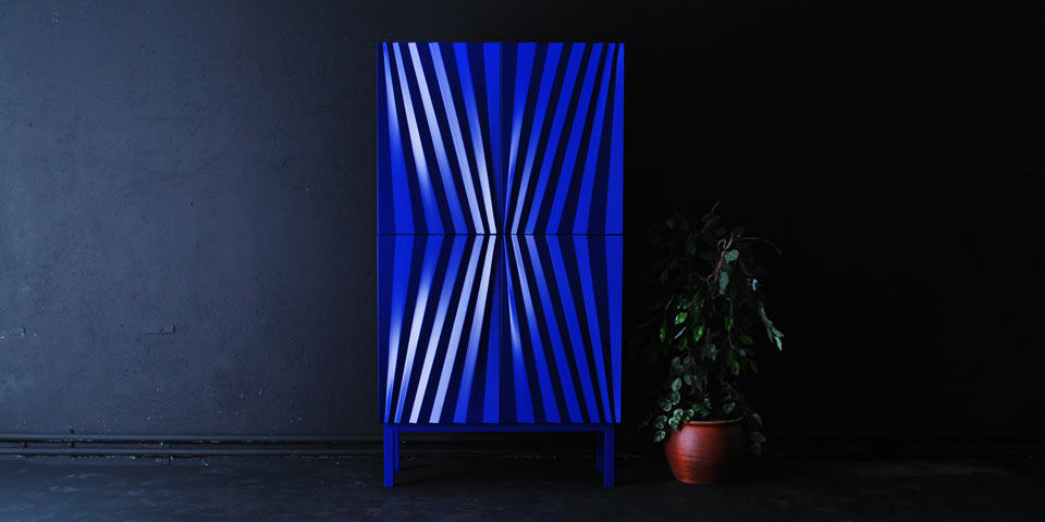 The 'Sapphire' cabinet by Markus Johansson for Olby Design.