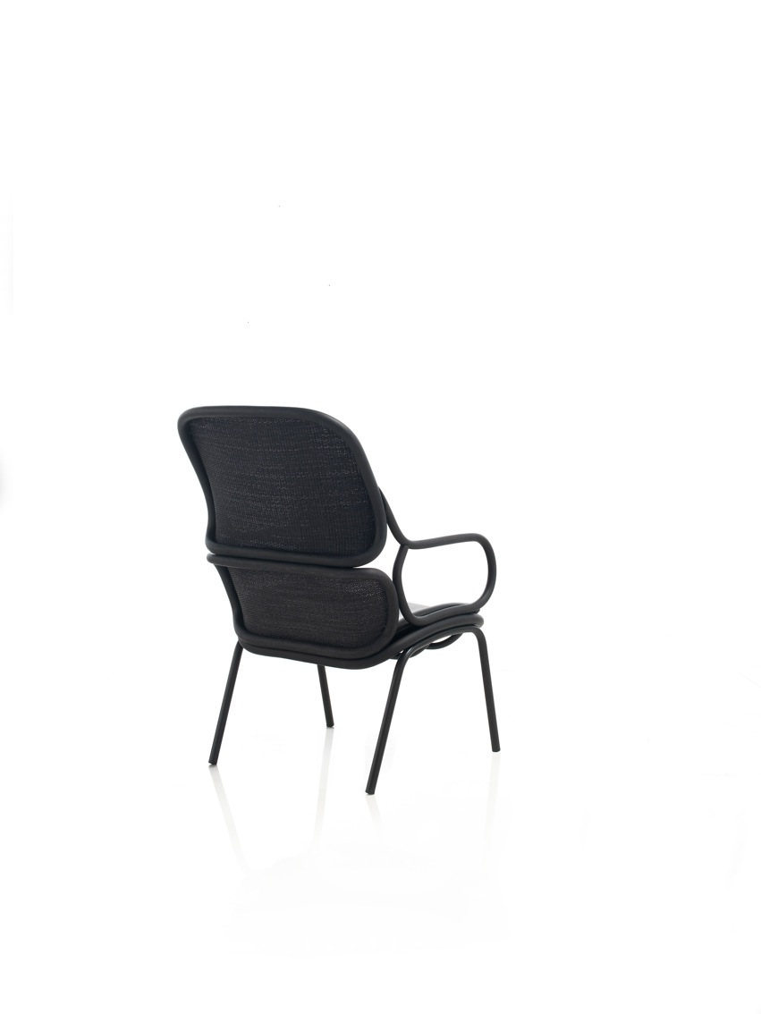 Jaime Hayon's new 'Frames' armchair for Spanish brand, Expormim. Rear view.