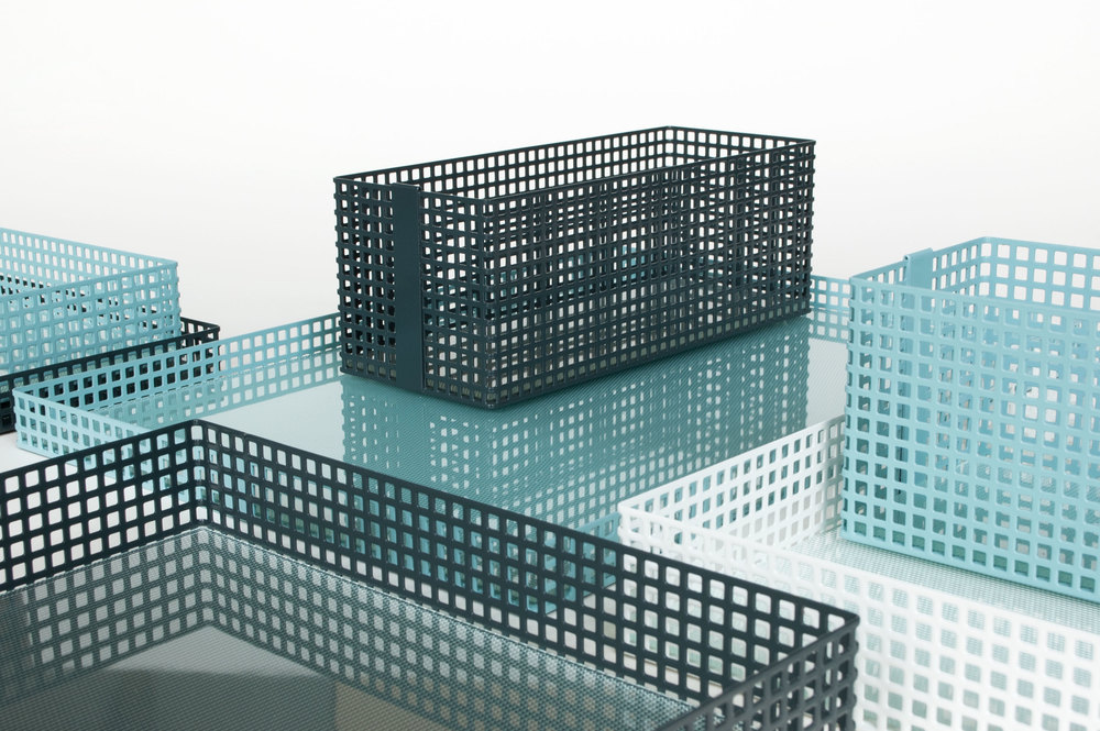 David Derksen - also from the Netherlands, showed a similar concept in Lambrate as part of a group show entitled 010-020. His 'Table Architecture' was designed to create pleasing cityscapes for the desk or table where the overlayed grids created intricate patterns.