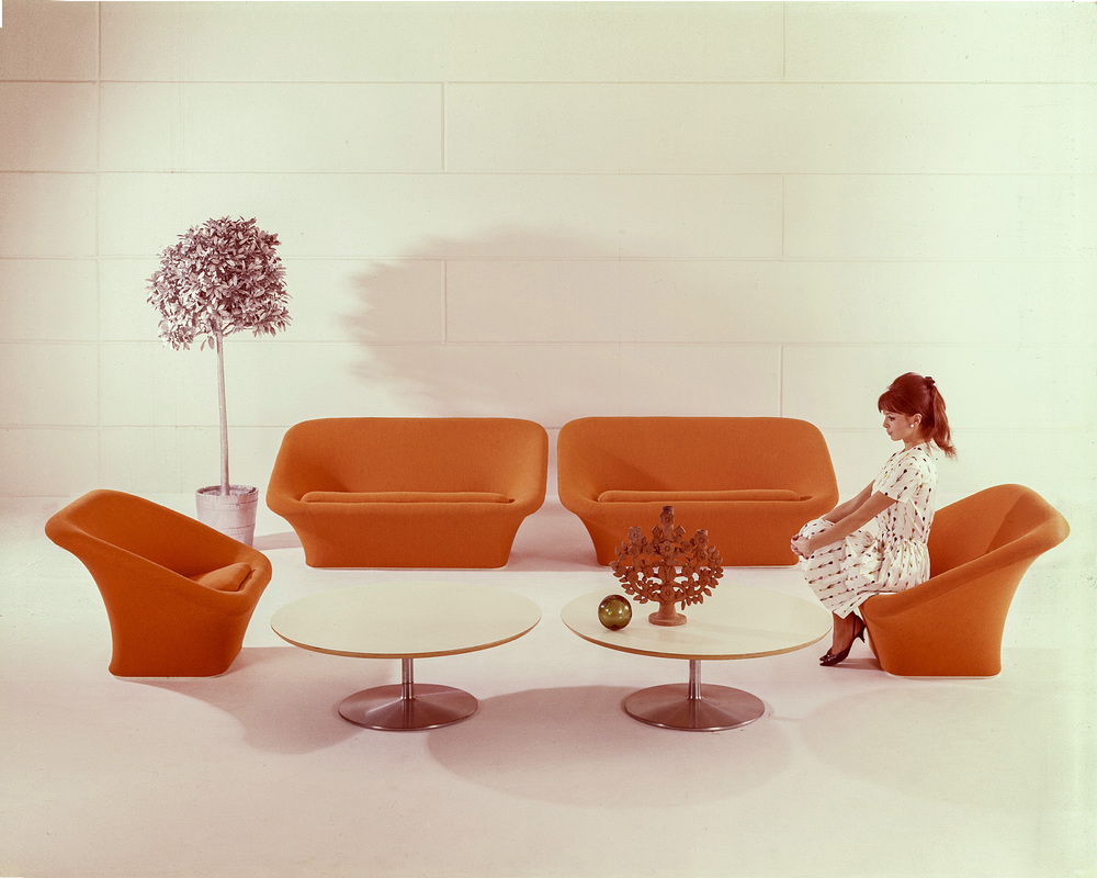 Artifort have reissued the 'Nest' sofa and armchair by Pierre Paulin from 1962.