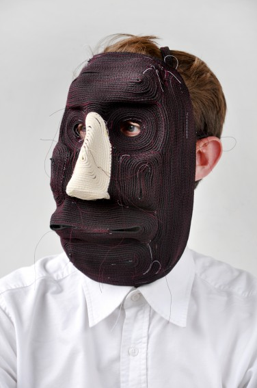 Bertjan Pot posing in one of his masks.