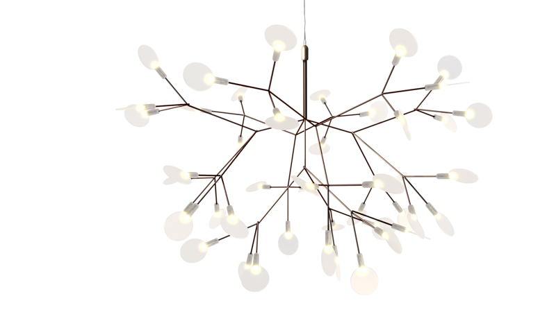Pot's 'Heracleum' pendant light for Moooi utilises Marcel Wanders' patented LED sandwich technology.