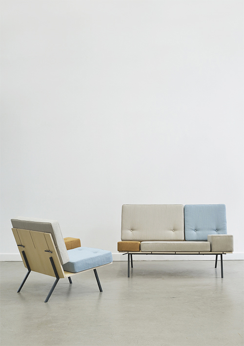 Aust & Amelung's 'A bench' armchair and sofa. Photography by Minu Lee.