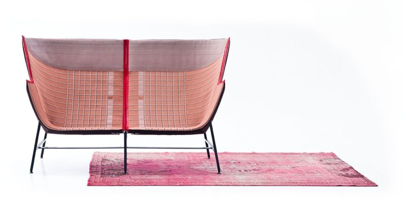 The asymmetric 'Paper Planes' lounge chair for Moroso from 2010, in two seater sofa form.