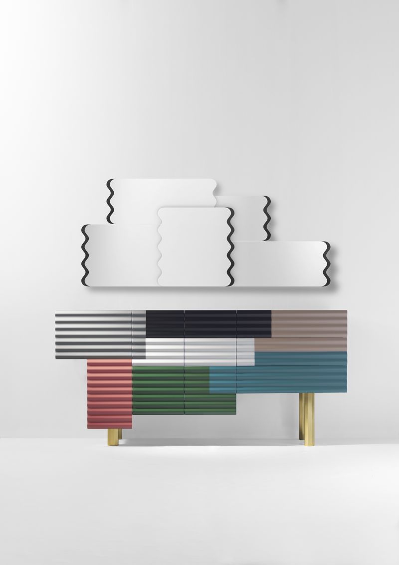 The 'Shanty' cabinet for BD Barcelona Design is a playful study of colour and shape - much like a 3D collage.