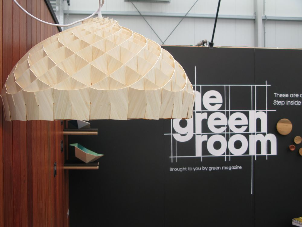 Edward Linacre's 'Nest' pendant light on show at the Green Room during designEX.