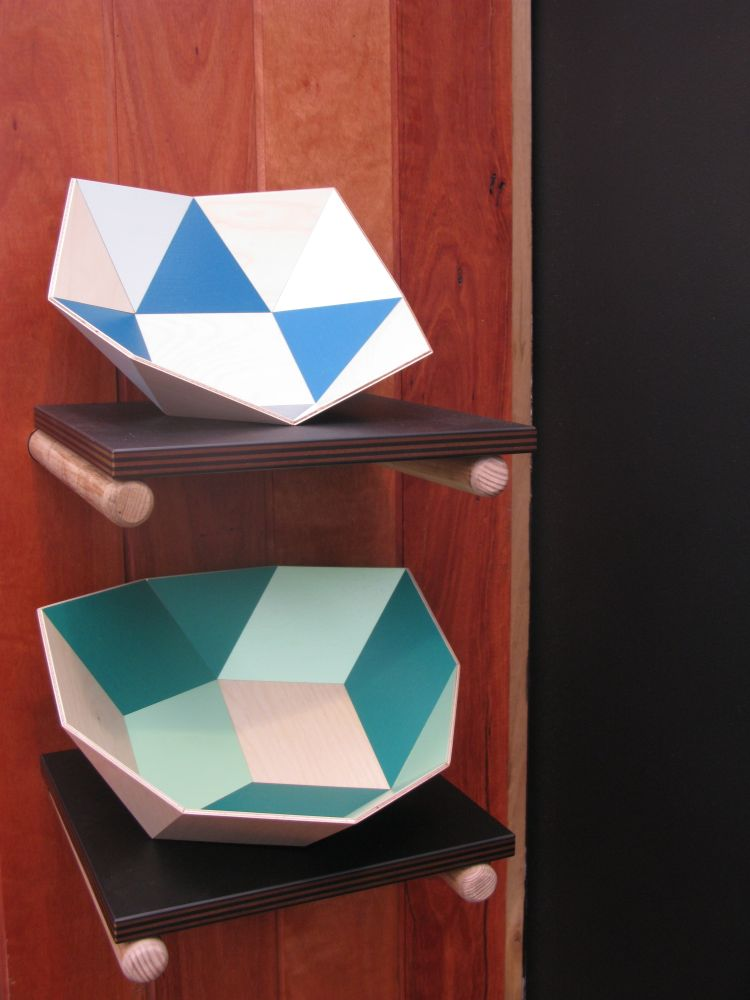 'Tegl' and 'Kurv' bowls by Stephen Ziguras.