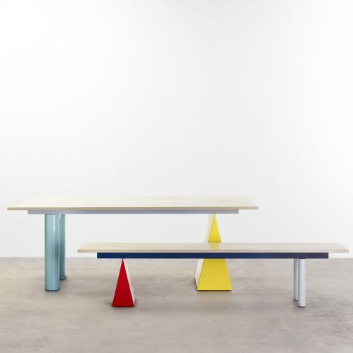 Daniel & Emma's 'Pick 'n' Mix' table and bench for Tait. Currently with concrete tops but soon to be available in marble.