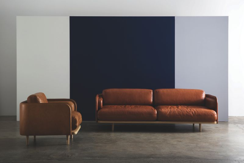 The 'Aran' armchair and sofa in leather is a beautiful thing to behold. The upholstery work is of the highest standard.