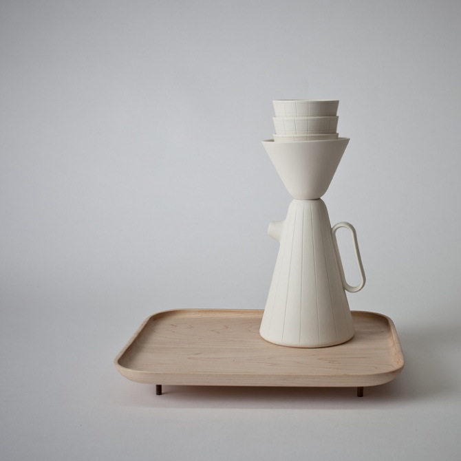 When not in use the coffee set is a beautiful sculptural object in it's own right.  Photo © Juli Daoust Baker