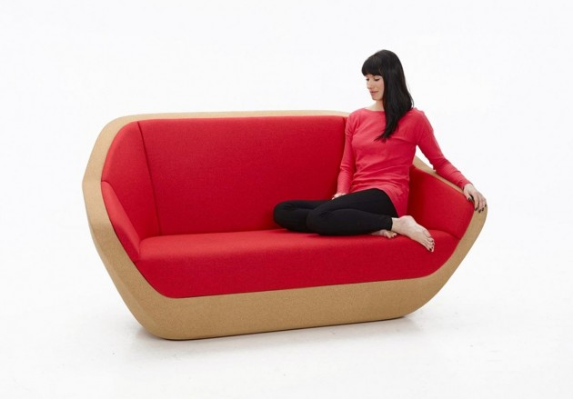 The 'Corques' two seater sofa for PER/USE 2014 is made from conglomerated cork.