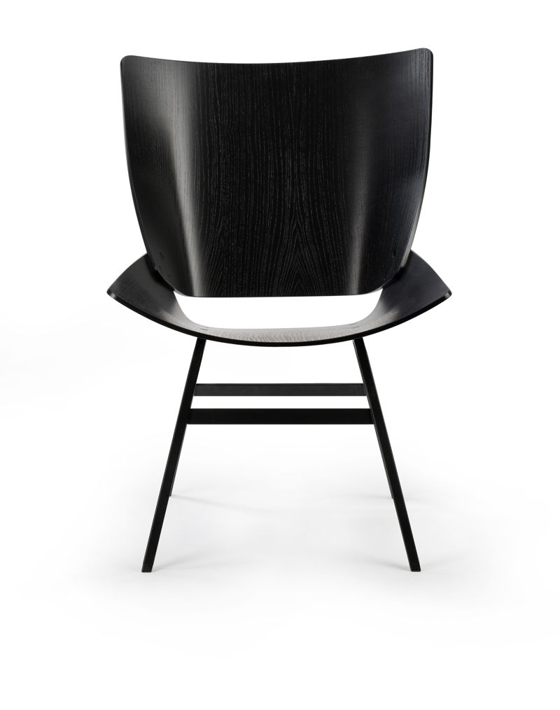Niko Kralj's 'Shell' chair - front view.