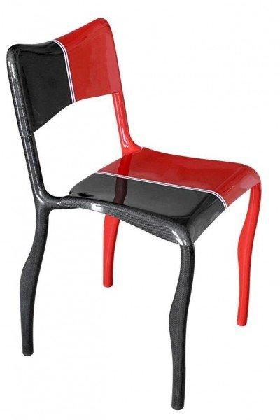 The Formula 1 styling of Massimiliano Della Monaca's 'Estrema' chair. Go faster stripe optional.