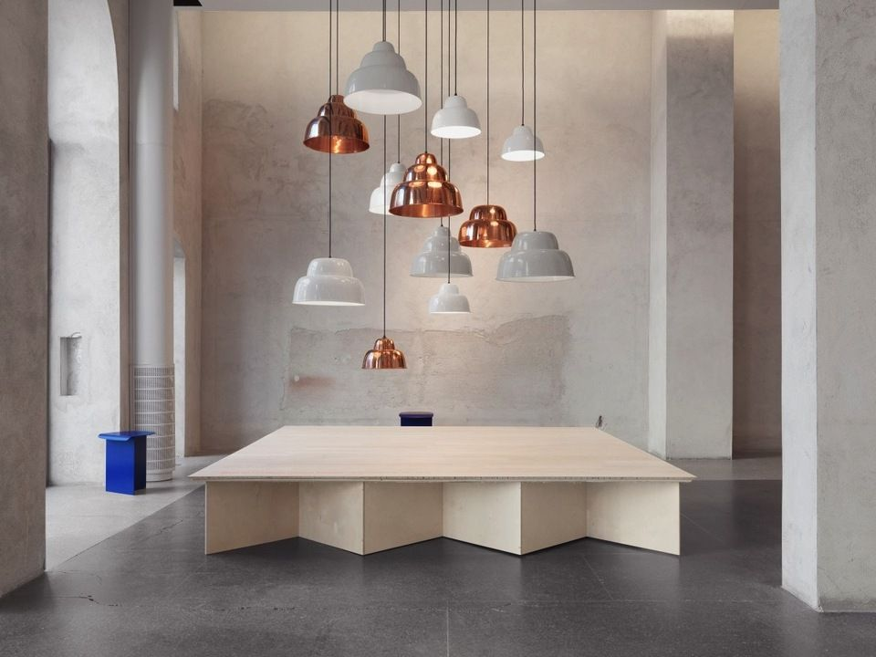The 'Levels' pendant lights by Form Us With Love (FUWL) for One Nordic Furniture Company as shown at their launch in Stockholm in 2013. Image FUWL.