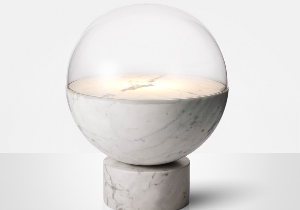 Lee Broom's new 'Globe' table light. A planetarium of light.