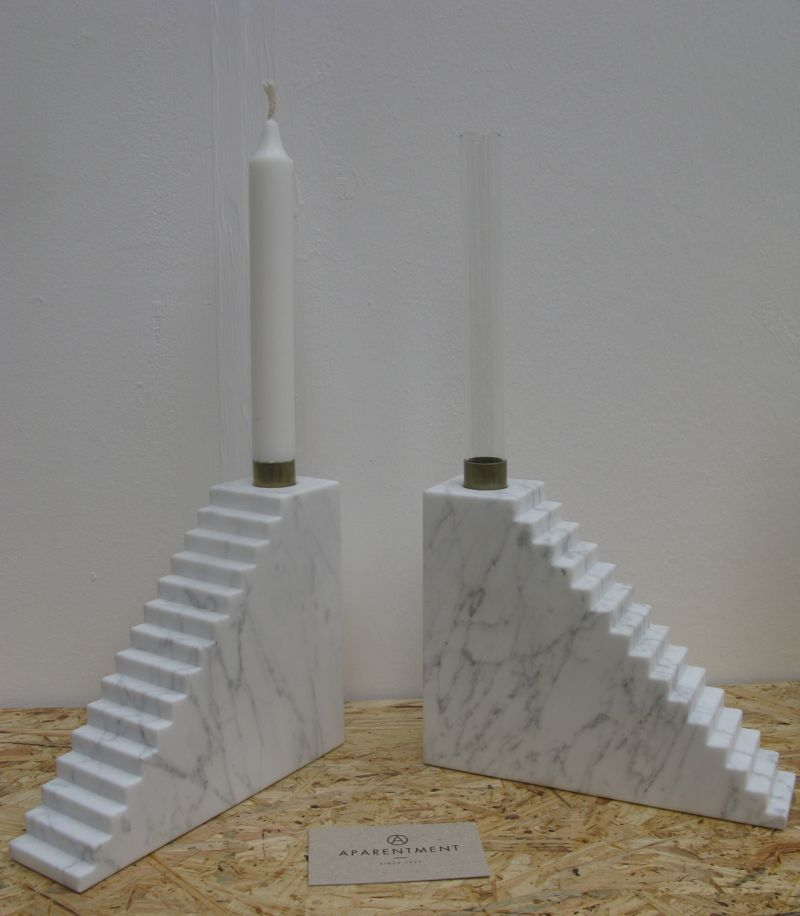 'Stairs' candlesticks from Aparentment's 'Marblelous Collection'