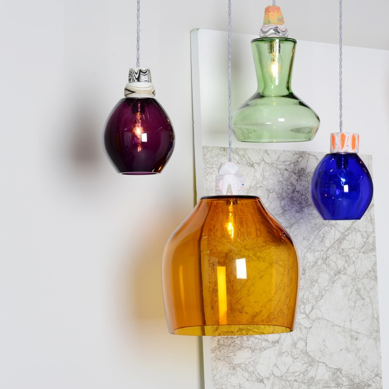Former Royal College of Art graduate, Pia Wüstenberg's 'Glass lights' are sold through Heals The lights are mouth blown in the Czech Republic.