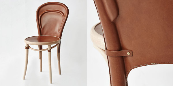 The 'Warm' chair by Gary Galego and David Harrison (that's me) captures the handmade qualities of saddlery.