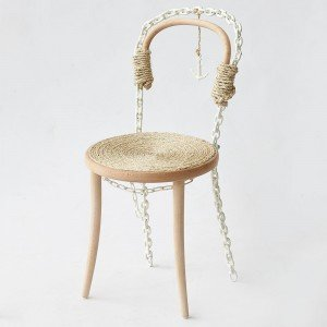 In Sophie Thé's 'Seafarer' chair, beech is replaced with welded anchor chain.